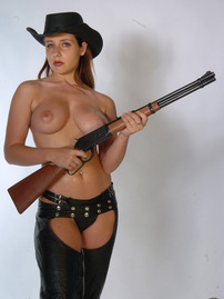 Erica Campbell With Guns