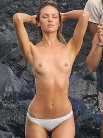 Candice Swanepoel Shows Her Perky Tits