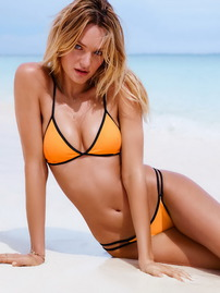 Candice Swanepoel On The Beach