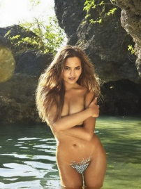 Christine Teigen Topless On The Beach