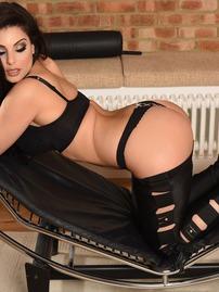 Charlotte Springer Strips Off Her Black Lingerie