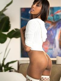 Adriana Malao In Sexy Fishnet Stockings