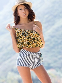 Janice Griffith Removes Her Tiny Shorts