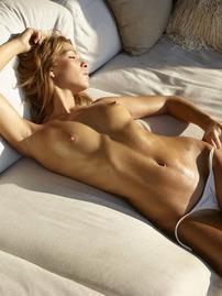 Amber In Sexy White Bikini
