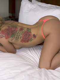 Kali Rose Strips And Shows Her Foot Tattoo