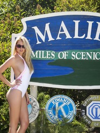 Genevieve Morton Showing Off Her Great Curves