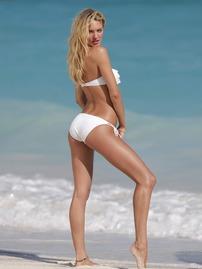 Candice Swanepoel Doing A Sexy Wet Bikini Photoshoot