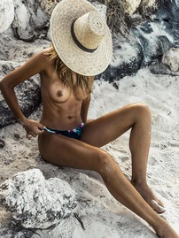 Sandra Kubicka Showing Off Her Bare Boobs