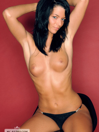 Nina Hot Black Haired Girl In Black Panties