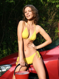 Galina A In Sexy Yellow Bikini