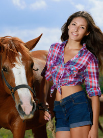 Country Girl Rosella Shows Her Perfect Body