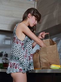 Mila Azul Teasing In The Kitchen