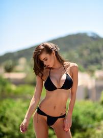 Jennifer Ann In Black Bikini