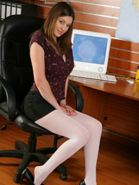 Cute Brunette Secretary