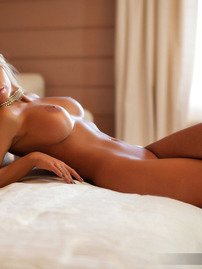 Perfect Blonde Babe Showing Off Her Tanned Body