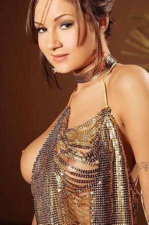 Amy Reid In Gold