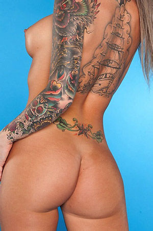 Christy Mack Shiny Purple Bikini