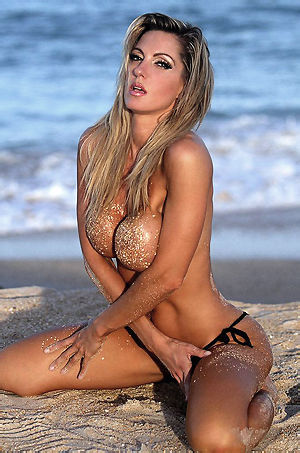 Brenna Big Boobed Babe By The Sea