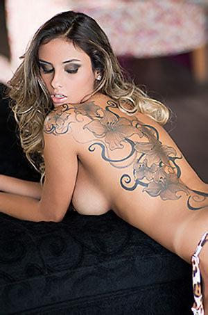 Ellen Sapori Hot Tattooed Babe