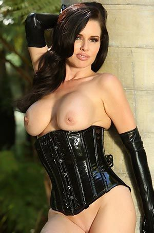Veronica Avluv In Sexy Latex Corset