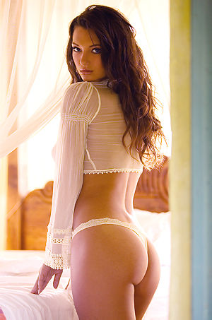 Aimee Rickards Hot Busty Babe Strips