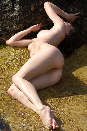 Birgid Sexy Naked Girl In The Laguna