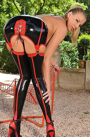 Busty Babe In Latex Outfit