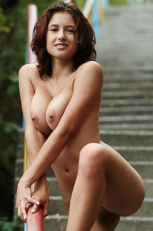 Busty Ornella's Big Natural Tits