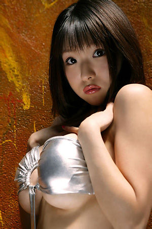 Big Boobed Asian Girl Shiny Bra