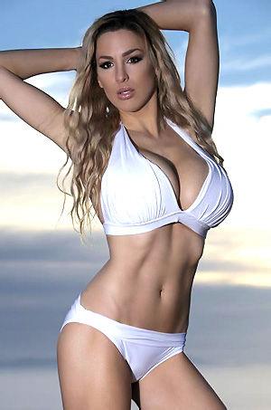 Jordan Carver In Sexy White Bikini