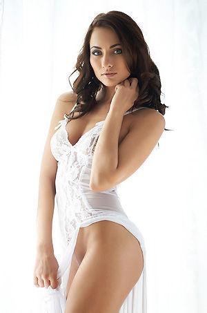 Michaela Isizzu In Hot White Dress