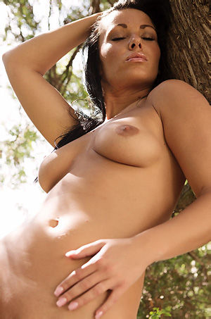 Black Haired Tereza Outdoor