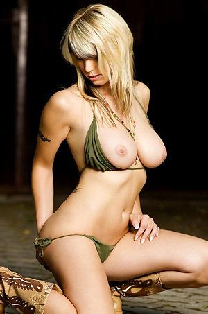 Busty Alice Posing In Bikini