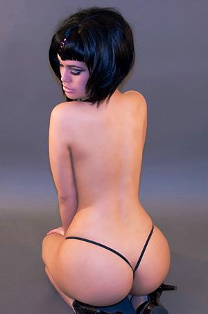 Violet String Thong