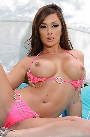 Destiny Dixon Pink Bikini