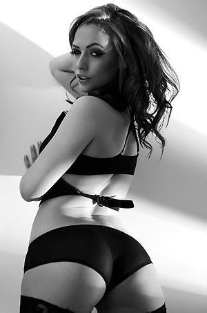 Anastasia Harris Wearing Black Lingerie