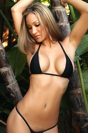 Kira In Sexy Black Bikini