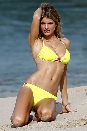 Marisa Miller On The Beach