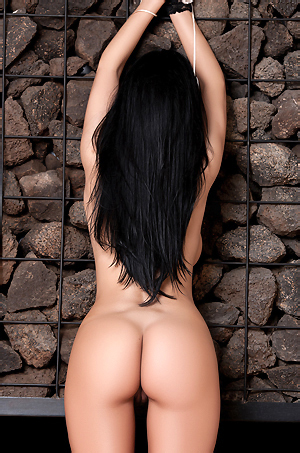 Raven Haired Laura Cattay