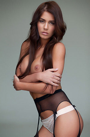 Alexa Varga In Black Stockings
