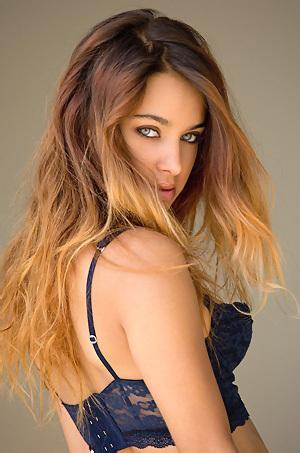Uma Jolie Takes Her Sexy Lingerie Off