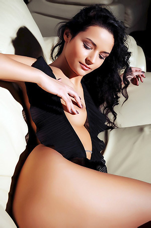 Dark Haired Teen With Gorgeous Body