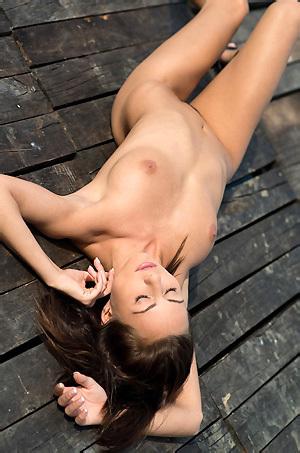 Michaela Isizzu Gets Nude Outside