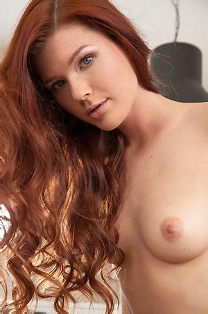 Amazing Redhead Girl Margy Strips