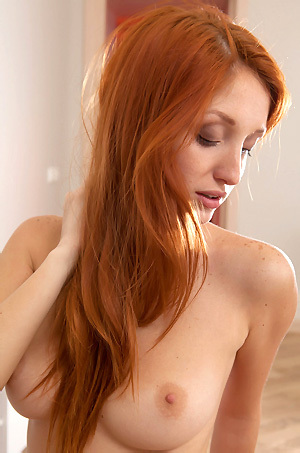 Sexy Redhead Michelle Finger Play