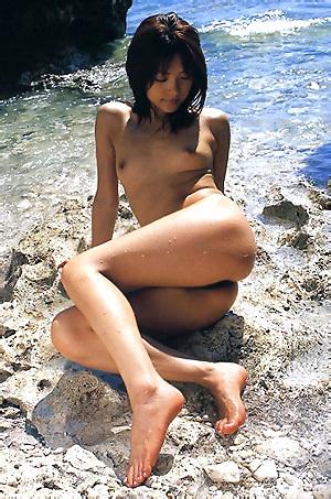 Mihiro Taniguchi Nude On The Beach