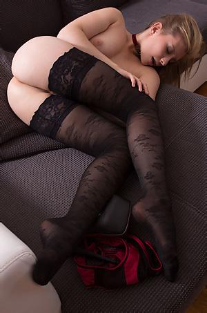 Vanessa In Sexy Black Stockings