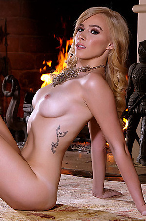 Penelope Lynn By The Fireplace