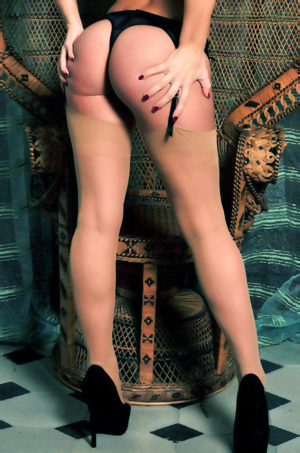 Anastasia Harris In Sexy Stockings