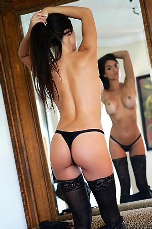 Janessa Brazil In Black Mini Skirt